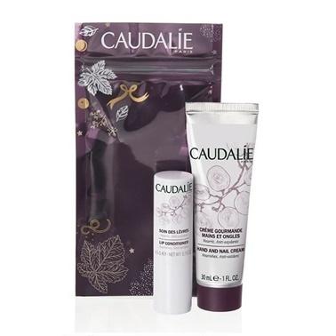 Caudalie Winter Duo Hand and Nail Cream Lip Conditioner Set Renksiz
